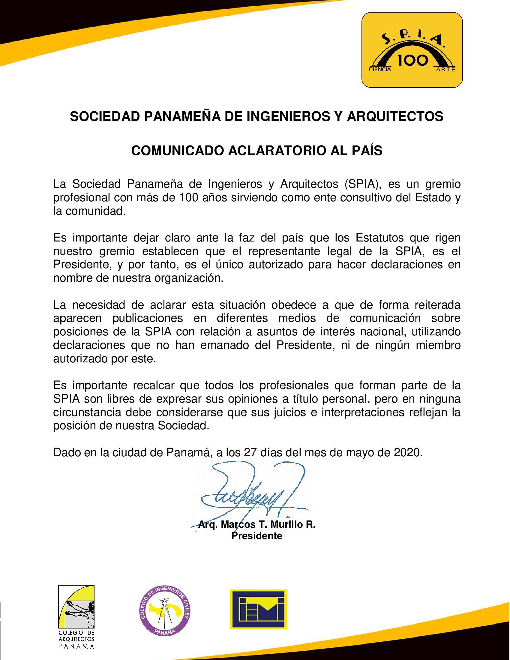 COMUNICADO-ACLARATORIO-AL-PAÍS-VOCERO-SPIA-25-MAYO-FINAL-firmado